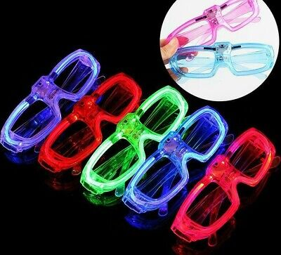 12 PCs Frame LED Flashing Glasses Light Up Sunglasses Wedding Party Favor Packs - Party Favor Sunglasses