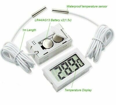 Digital Thermometer Lcd Thermostat Temperature Sensor Moisture Resistant Devices