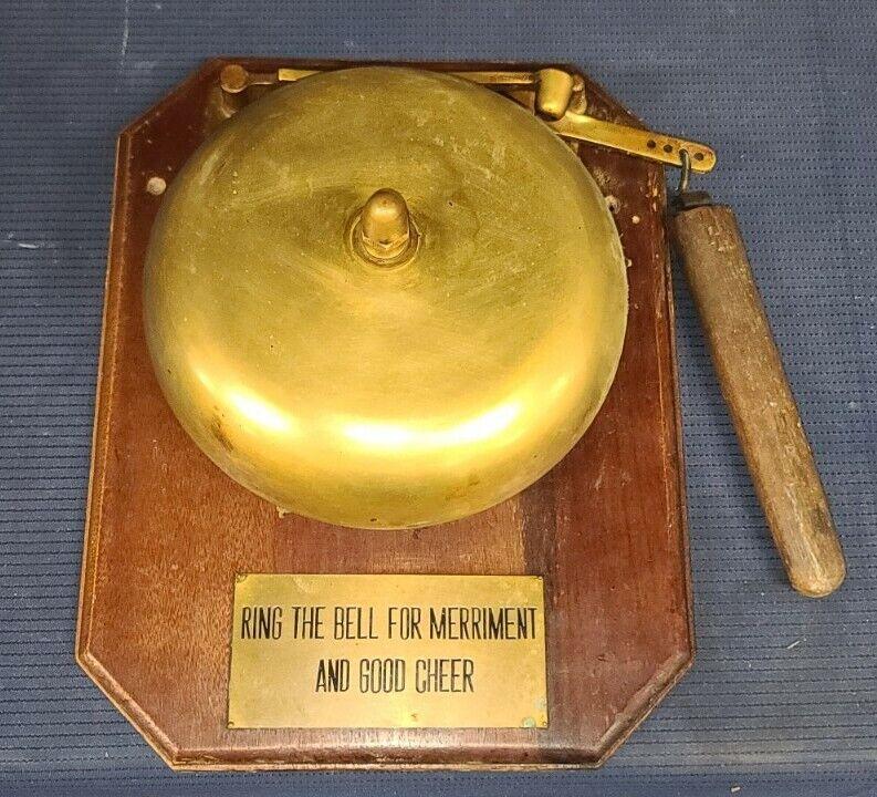 Vintage brass boxing ring bell school Bell Spring Bar