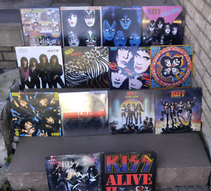 HUGE KISS VINYL RECORD LP ALBUM COLLECTION