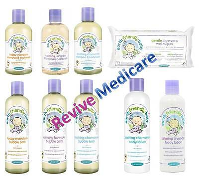 Earth Friendly Baby Range Shampoo, Body Wash, Lotion, Wipes Natural Ingredients ()