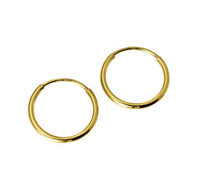 SEARS 14k Yellow Gold 1mm Thickness Polished Classic Endl...