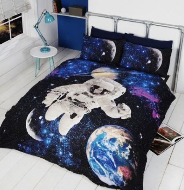Rapport Kidz Multi Spaceman/Outer Space Glow In The Dark Duvet Set Single/Double