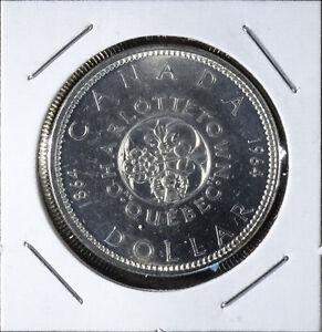 1964 Confederation Commemorative Silver 1 Dollar Coin