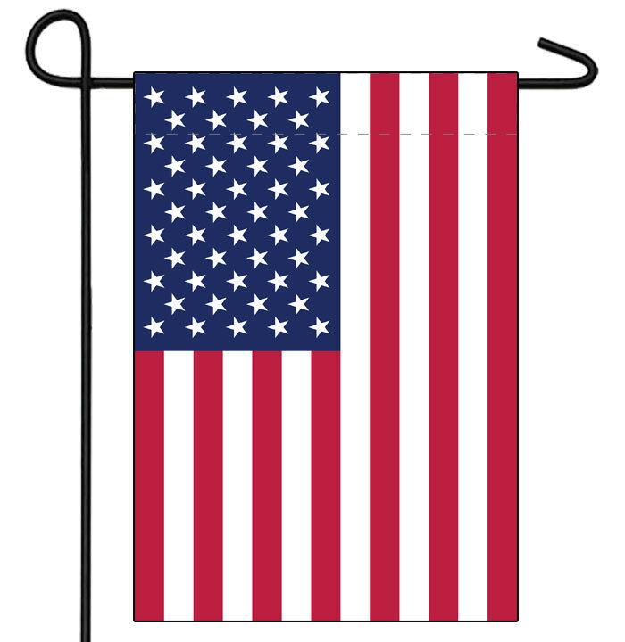 12x18 USA Flag American Garden Flag Sleeved Garden Pole Flag