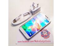 Samsung S5, 16GB, White Pearl, Pristine Condition, Unlocked