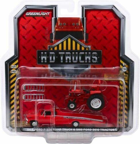 Greenlight 1/64 HD Trucks 16 '69 Ford Ramp Truck & '85 Ford