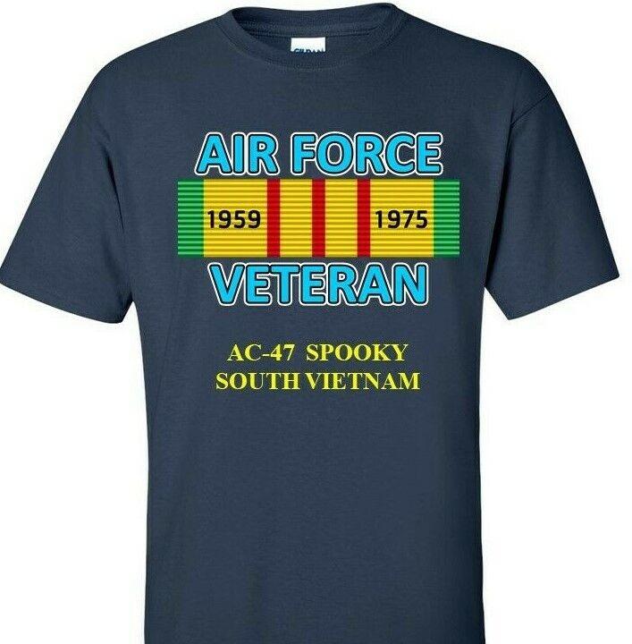 Ac 47 Spooky Air Force Vietnam Campaign Ribbon Vinyl Shirt