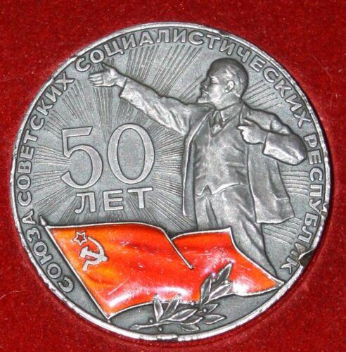 USSR Lenin 50 years 1922 - 1972 Sterling Medal