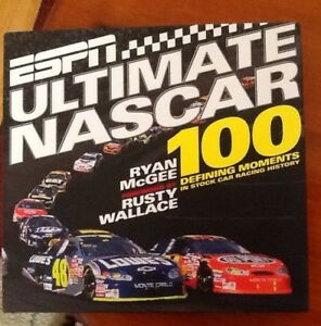 ESPN ULTIMATE NASCAR hardcover book, $10.  Like new NASCAR/MOTOR
