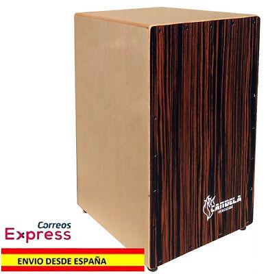Cajon Rumbero Flamenco Afinable de abedul Tapa Oscura de cebrano Percusion Nuevo