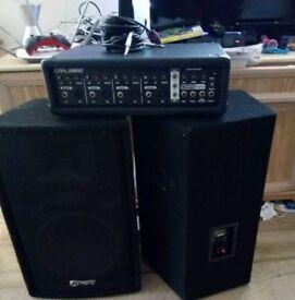 Cobra 1100 Mixer with Intimidation 600W Speakers