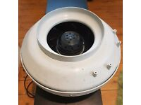 Inline Extractor Fan Hydroponics use or Air con. 8 Inch