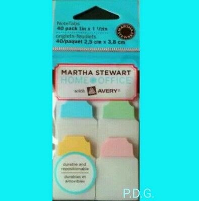 40 Packmartha Stewart Home Office Pastel Notetabs Memo Note Tabs Sticker Avery