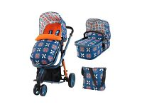 Brand new, still in box, Cosatto Giggle 2 Pram, car seat and changing bag.