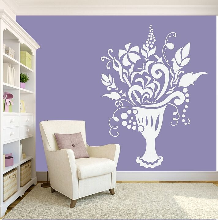 Details about Vase Wall Stickers Flowers Art Decal Transfer Living room  Bedroom Removable