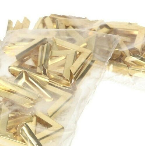 Elegant Decorative Metal Corner Protectors For Books - Gold (100 piece bag)