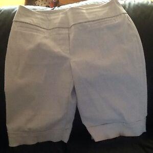 Beige REITMAN shorts size 11; 3 pair navy shorts size 16 / XL B