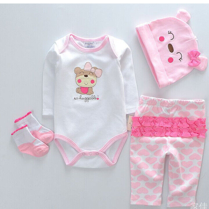 22 inch Reborn Girl Clothing Set Newborn Baby Doll Suit Clothes (NO DOLL)