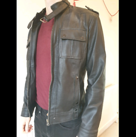 Vintage Style Tailored Leather Jacket (Small)