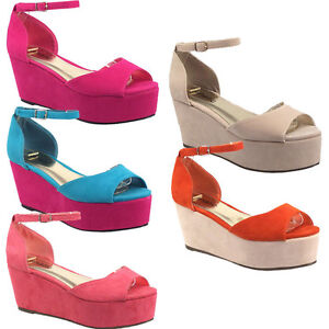 WOMENS-LADIES-STRAP-PLATFORM-OPEN-TOE-LOW-HEEL-WEDGE-FLATFORMS-SHOES-SZ-3-8