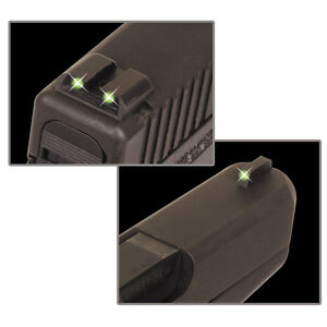 NWT Truglo S&W M&P Tritium Brite Sites NIGHT Sights - Front  Green & Rear Green
