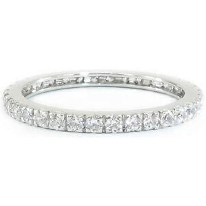 10K-14K-Gold-2mm-H-SI-0-72-Ct-Diamond-Eternity-Band-Ring-Anniversary-Wedding-New