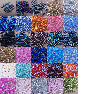 czech-Glass-bugle-beads-3-6-9-tube-bar-spacer-jewel-making-findings-seed-11-0