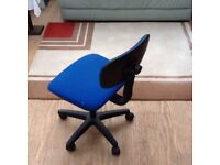 Blue small office chair