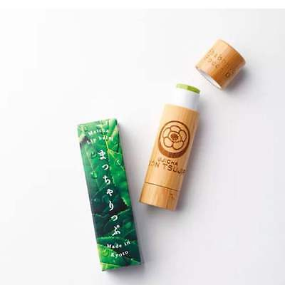 New Kyoto Gion Tsujiri Matcha Lip Balm Contains Fine Green Tea Powder F/S
