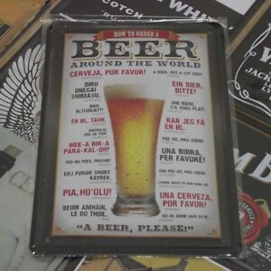 How-to-order-a-BEER-around-the-world-Metal-Tin-Sign-Vintage-HOME-BAR-Decor