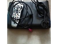 Slim sky hd box with remote and hdmi cables