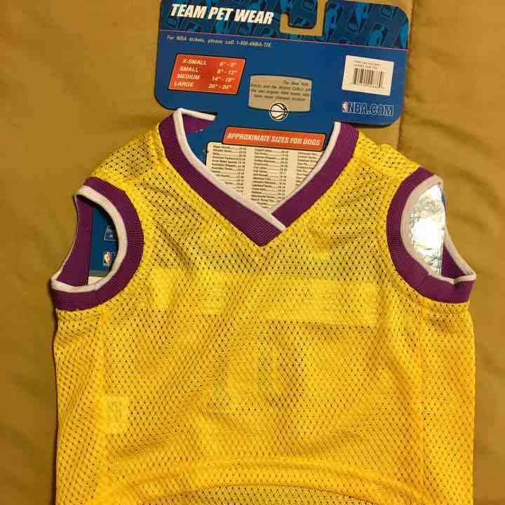 fbc3a753e Los Angeles Lakers NBA Officially Licensed Pets First Dog Pet Mesh Yellow  Jersey