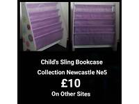 Sling bookcase