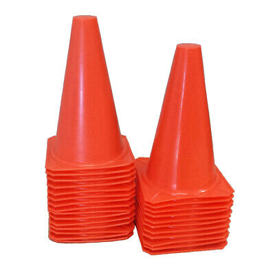 """5Pcs 14.5/"""" Durable PE Traffic Safety Cones Football Soccer Cones Red"""