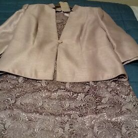Jacques Vert MotherBride/Groom complete outfit size 18 shoes size5