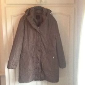 Taupe/ brown ladies winter coat size 16