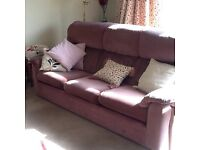 Parker Knoll 3 seater sofa + 2 armchairs fabric