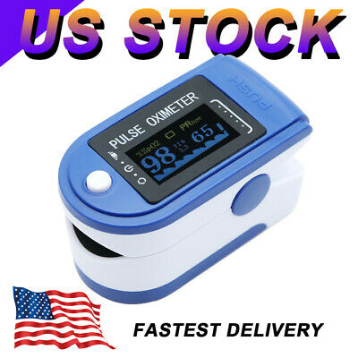 Led Pulse Oximeter Blood Pressure Meter Pulse Spo2 O2 Oxygen Saturation Monitor