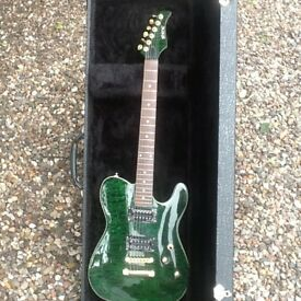 Shine flamed maple arch top telecaster