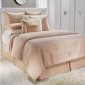 Jennifer Lopez Ember Queen Peach Comforter 4 Pc Set Shams