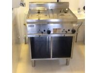 Zanussi Natural Gas Twin Fryer and Archway Chargrill