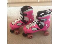 Girls pink roller boots size alters to fit up to uk ladies 7