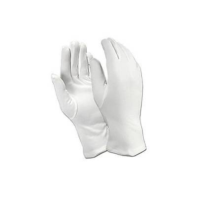 Adults White Gloves Father Christmas Mime Scream Magician Fancy Dress Accessory - White Magician Gloves