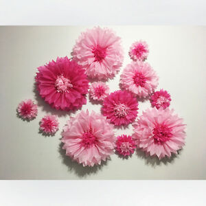 Tissue Flower Wall for Photo Backdrop or Showers or Wedding
