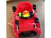 Baby walker racing car walker/rocker