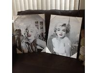 Canvas and framed pictures