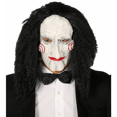 Scary Billy Jigsaw Puppet Halloween Saw Mask Adult Fancy Dress (Halloween Puppets Scary)