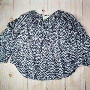 H&M Womens Brown Black Animal Print Leopard Isabel Marant Blouse Top Size XS 2