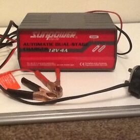 Sunpower battery charger 12v 4a